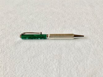 錫のボールペン スタンダード Green&Whiteの画像