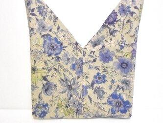 記憶の花(ブルー) あずま袋 お弁当入れの画像