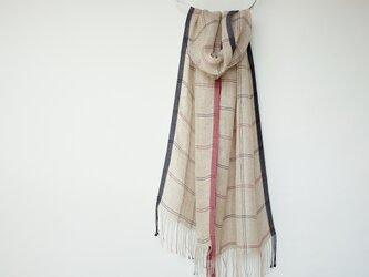 手織りリネンストール【澪花*01】の画像