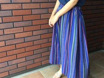 楊柳ストライプコットンスカートの画像