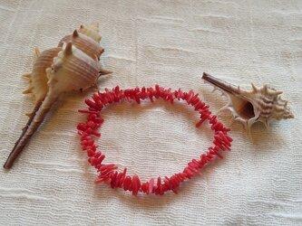 紅珊瑚のブレスレット(送料無料)の画像