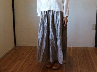 ギャザースカート:グレージュの画像