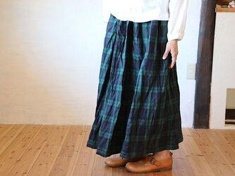 ギャザースカート:BWの画像