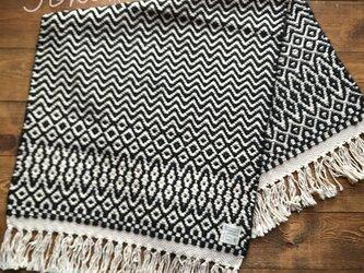手織りローゼンゴンフロアマット ブラックの画像