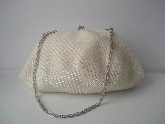 ★X'mas Campaign★ Beaded Bag --Snow Crystal-- [off-white]の画像
