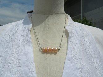 ピンクの淡水パールが可愛いネックレス(送料無料)の画像