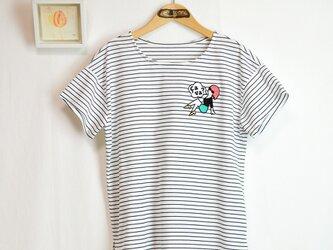 *.:.ピンナップガール刺繍×ボーダープルオーバー.:.*の画像
