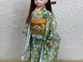 リカちゃん着物 新緑の季節の画像