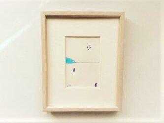 【受注制作】「静かな海」 イラスト原画 ※額縁入りの画像