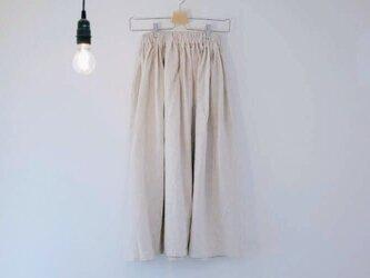 コットンリネンのロングスカートの画像