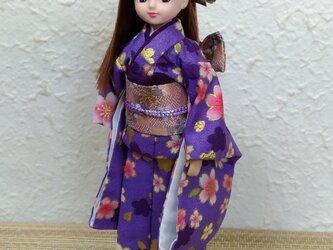 リカちゃん着物 花紫の妖精の画像