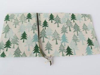 森のブックカバー しろ ベージュの画像