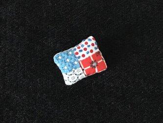 小さなはぎれのパッチブローチ 3の画像