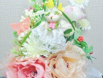 花のくまさんブーケの画像