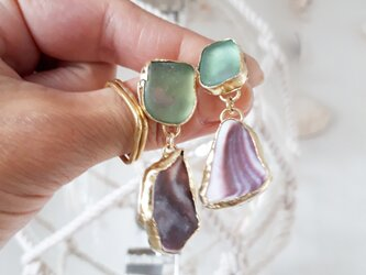 seaglass × purple shell pierceの画像