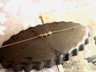 Fortune Ring Bracelet ■14kgf 天然石 Excellent■シトリンの画像