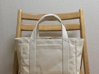 「軽いボックストート」小サイズ 帆布トートバッグの画像