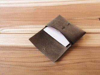 【受注生産】card case/ash brownの画像
