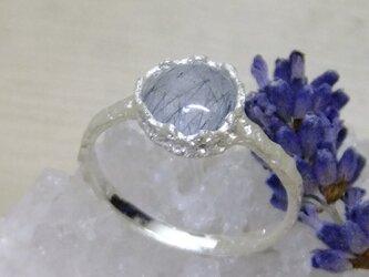 インディゴクォーツ*925 lace ringの画像