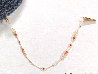 天然石のハットクリップ(カーネリアン)の画像
