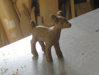 木製彫刻小鹿の画像