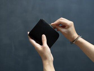 【受注製作】革の財布S ブラックの画像