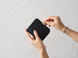 革の財布S ブラックの画像