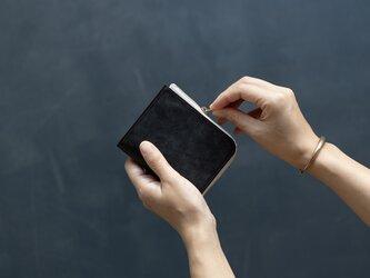 革の財布S ブライドル チョコの画像