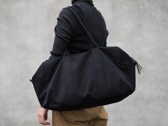 【受注製作】帆布のボストンバッグ ブラックの画像