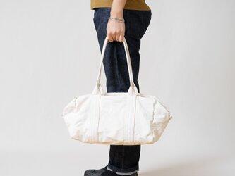 【受注製作】帆布のボストンバッグS 生成りの画像