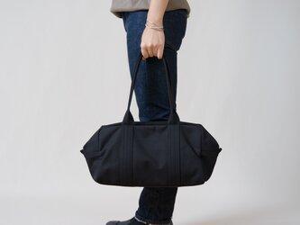 【受注製作】帆布のボストンバッグS ブラックの画像
