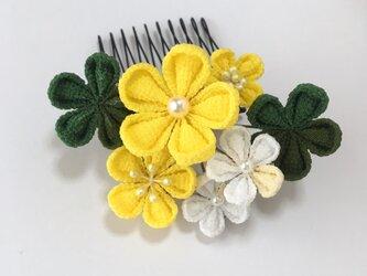 《散歩》お花のミニヘアコームの画像