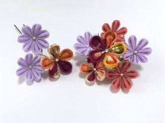 《可憐》お花の髪飾り【2点セット】の画像