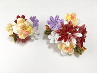 《乙女》お花の髪飾り【2点セット】の画像