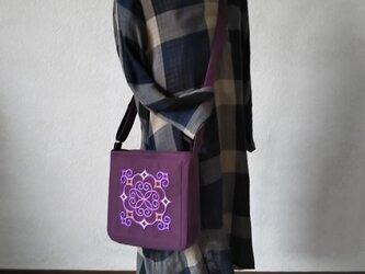 アイヌ刺繍入りショルダーバッグ(紫)の画像