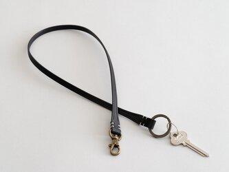 【受注製作】革のキーベルト ブラックの画像