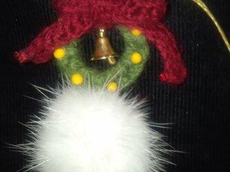 手編みのクリスマスストラップの画像