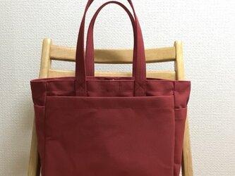 「ボックストート」通勤トート  帆布トートバッグの画像