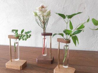 広口試験管の一輪挿し(フラワーベース、花器、花瓶)の画像