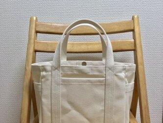 「ポケットトート」小サイズ 帆布トートバッグの画像