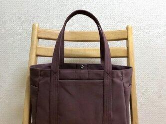「ポケットトート」横長サイズ  帆布トートバッグの画像