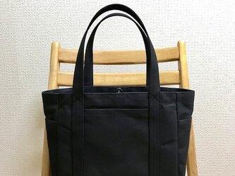 「ポケットトート」中サイズ  帆布トートバッグの画像