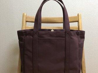 「ポケットトート」通勤トート  帆布トートバッグの画像