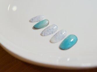陶器風ネイル 送料無料【MN-P 020】の画像