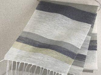 手織りリネンストール SU11の画像