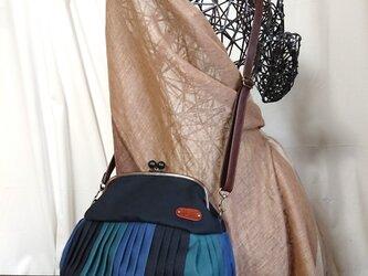 『K様オーダー』倉敷帆布バルーンバッグ20ブラックブルーグリーン  No.2003の画像