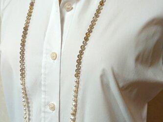 ルチルクオーツ パールネックレスの画像