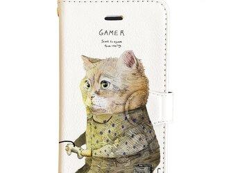 Original手帳型iPhoneケース「GAMER_CAT」の画像