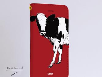 Original手帳型iPhoneケース「COW」の画像