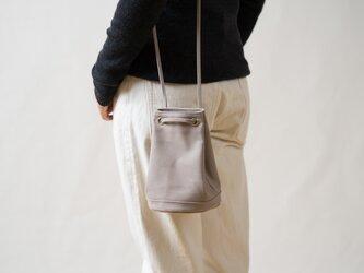 【受注製作】2way巾着バッグ グレーの画像